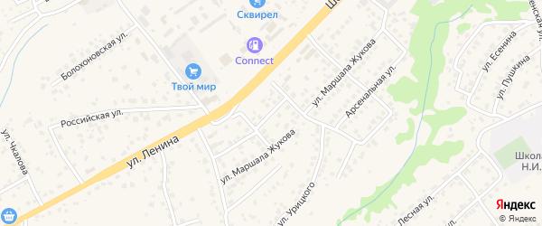 Шоссейный проезд на карте села Супонево с номерами домов