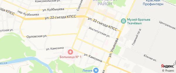 Территория ГО Мало-Орловская 9 на карте Брянска с номерами домов