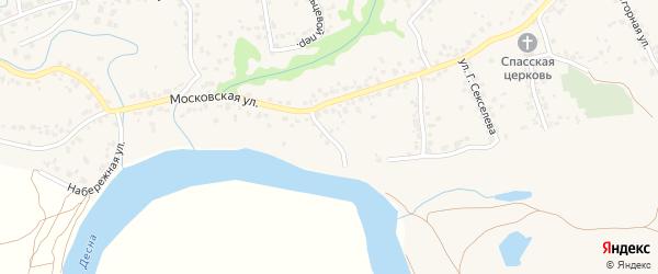 Московский переулок на карте села Супонево с номерами домов