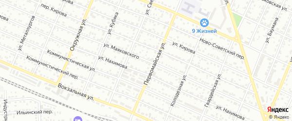 Улица Маяковского на карте Брянска с номерами домов
