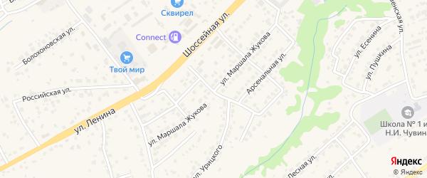 Улица М.Жукова на карте села Супонево с номерами домов