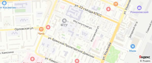 Харьковская улица на карте Брянска с номерами домов