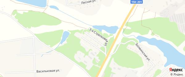 Территория сдт Стрела на карте деревни Буды с номерами домов