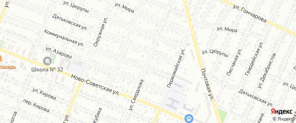 Улица Свердлова на карте Брянска с номерами домов