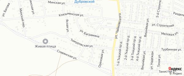 Открытая улица на карте Брянска с номерами домов