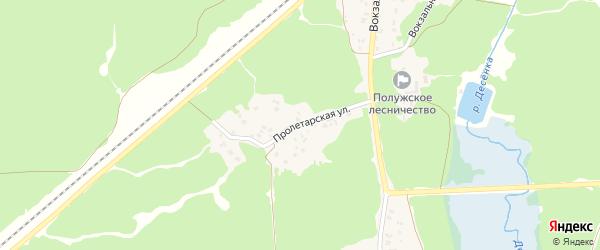 Пролетарская улица на карте поселка Пятилетки с номерами домов