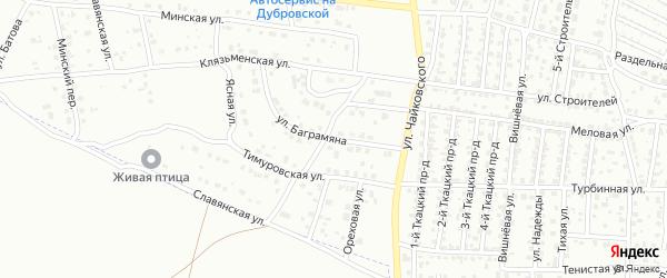 Улица Баграмяна на карте Брянска с номерами домов