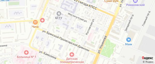 Мало-Орловская улица на карте Брянска с номерами домов