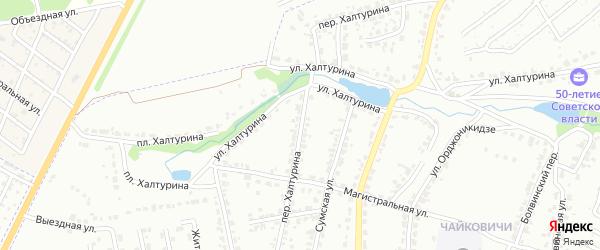 Переулок Халтурина на карте Брянска с номерами домов