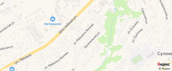 1-й Арсенальный переулок на карте села Супонево с номерами домов