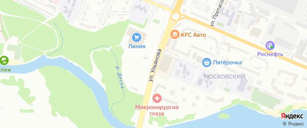 Улица Ульянова на карте Брянска с номерами домов
