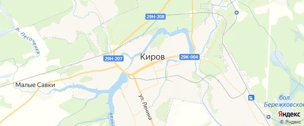 Карта Кирова с районами, улицами и номерами домов: Киров на карте России