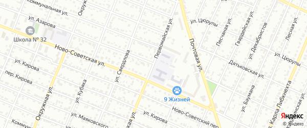 Улица Азарова на карте Брянска с номерами домов