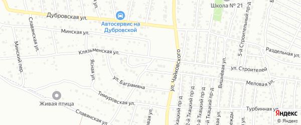 Сходненская улица на карте Брянска с номерами домов
