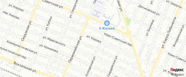 Улица Кирова на карте Брянска с номерами домов