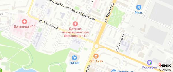 Улица Бузинова на карте Брянска с номерами домов