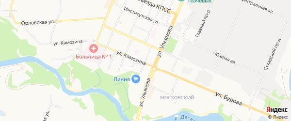 Территория Б/Г По Ул. Бузинова на карте Брянска с номерами домов