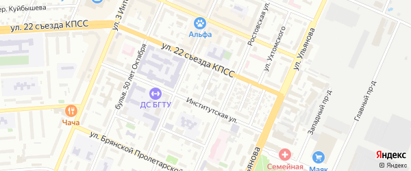 Воронежская улица на карте Брянска с номерами домов