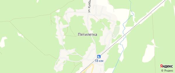 Карта поселка Пятилетки в Брянской области с улицами и номерами домов