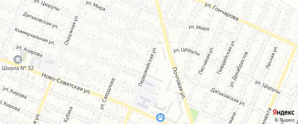 Первомайская улица на карте Брянска с номерами домов