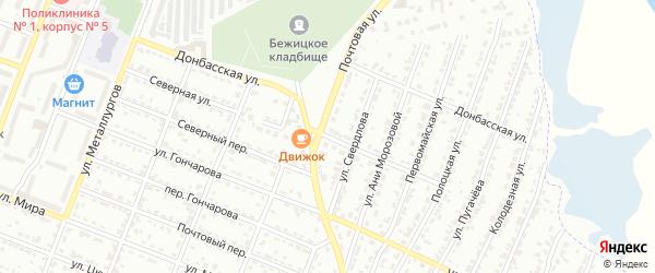 Северная улица на карте Брянска с номерами домов