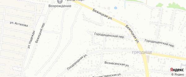 Переулок Жданова на карте Брянска с номерами домов