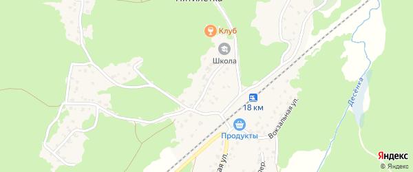 Школьная улица на карте поселка Пятилетки с номерами домов