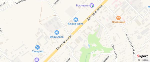 Шоссейная улица на карте села Супонево с номерами домов