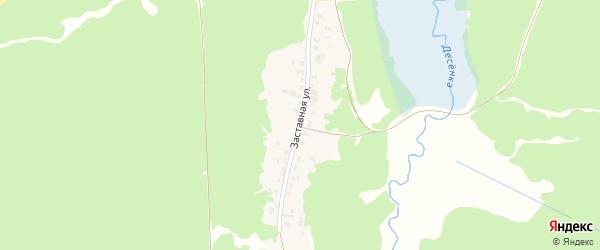 Заставная улица на карте поселка Пятилетки с номерами домов
