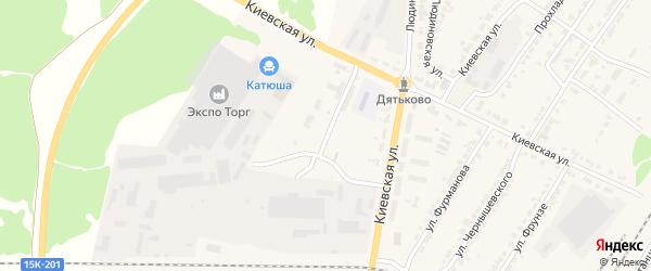 Улица Городок Строителей на карте Дятьково с номерами домов