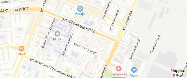 Ростовская улица на карте Брянска с номерами домов