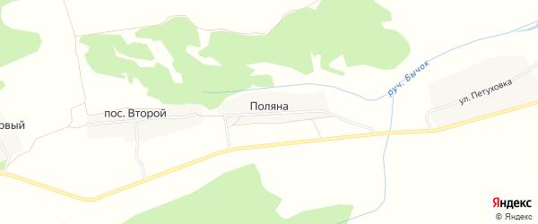 Карта поселка Поляна в Брянской области с улицами и номерами домов
