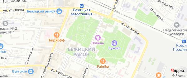 Улица Майской Стачки на карте Брянска с номерами домов