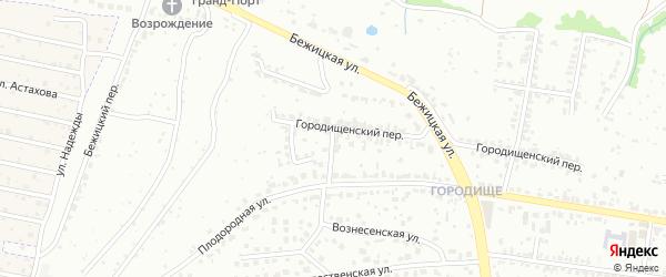 2-й Бежицкий переулок на карте Брянска с номерами домов