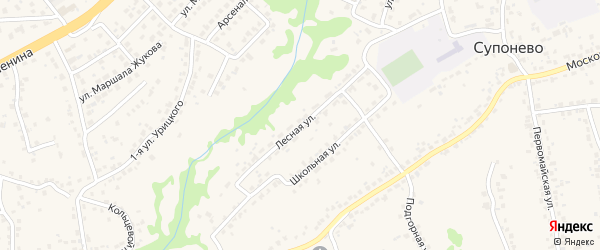Лесная улица на карте села Супонево с номерами домов