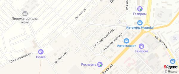 3-й Славянский переулок на карте села Супонево с номерами домов