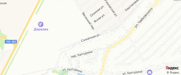 Солнечная улица на карте Брянска с номерами домов