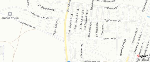 2-й Ткацкий проезд на карте Брянска с номерами домов