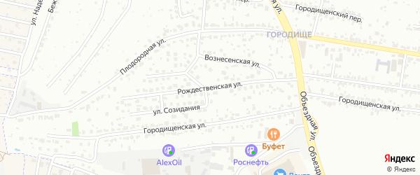 Рождественская улица на карте Брянска с номерами домов