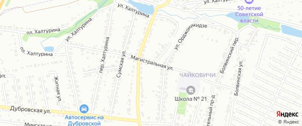 Магистральная улица на карте Брянска с номерами домов