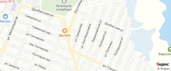 Улица Ани Морозовой на карте Брянска с номерами домов