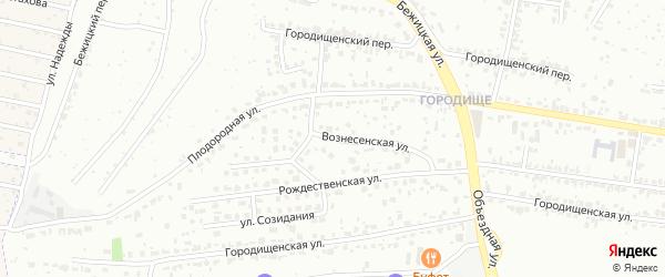 Вознесенская улица на карте Брянска с номерами домов