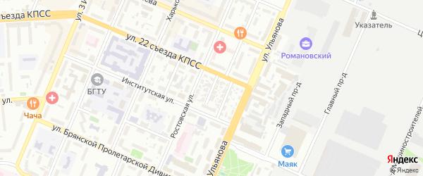 Молодежная улица на карте Брянска с номерами домов