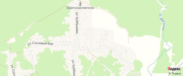 Переулок Куйбышева на карте поселка Пятилетки с номерами домов