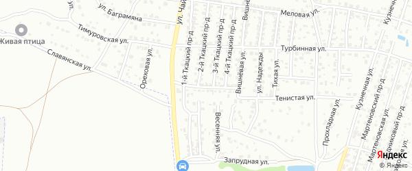 Тепловозная улица на карте Брянска с номерами домов