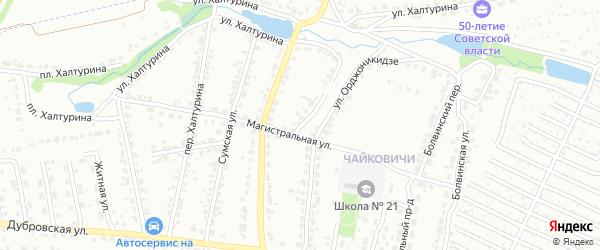 Улица Халтурина на карте Брянска с номерами домов