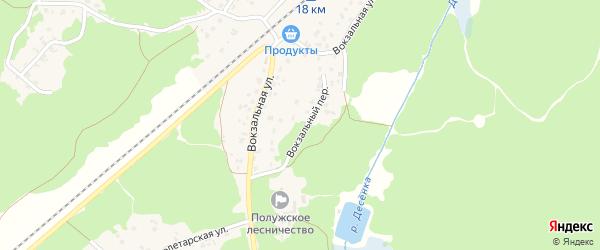 Вокзальный переулок на карте поселка Пятилетки с номерами домов