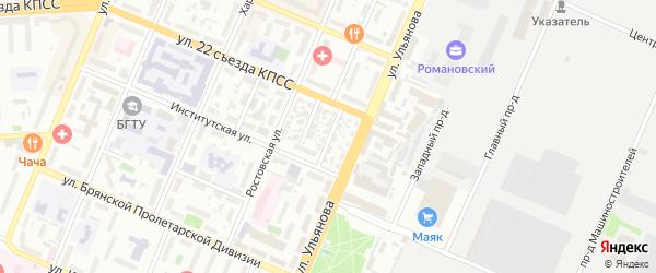Серпуховская улица на карте Брянска с номерами домов