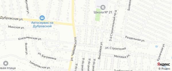 2-й Строительный проезд на карте Брянска с номерами домов