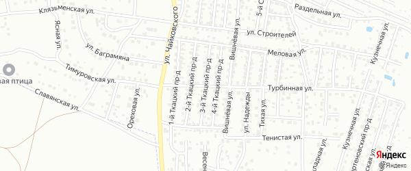 3-й Ткацкий проезд на карте Брянска с номерами домов